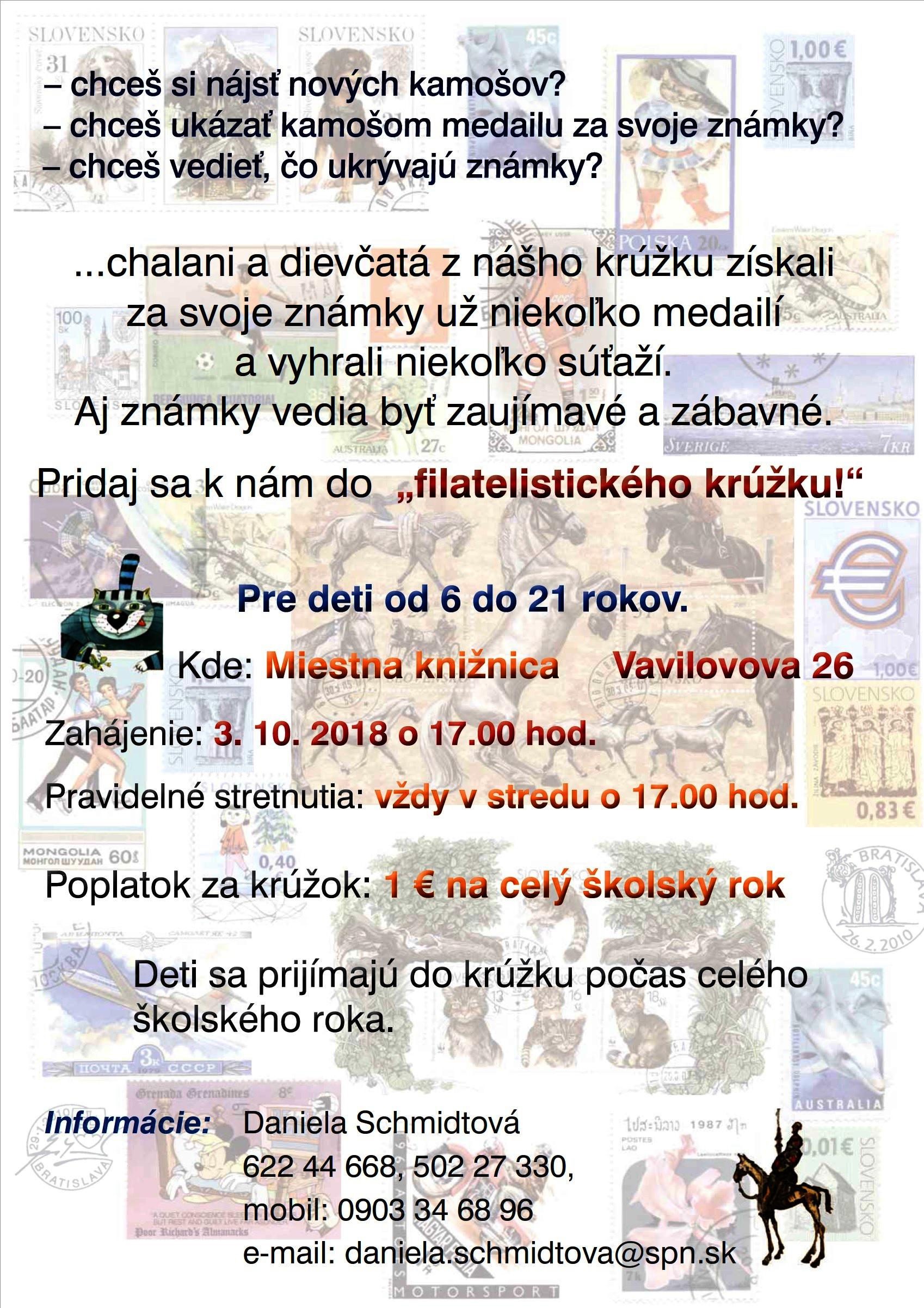 e21e54a4ce Filatelistický krúžok - Miestna knižnica Petržalka