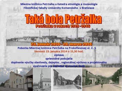 Výstava Taká bola Petržalka v rokoch 1919-1946