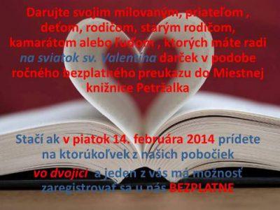 Valentínska akcia …