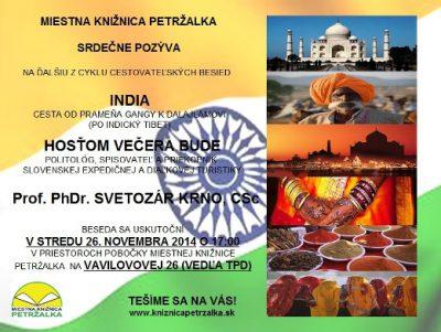 cestovateľská beseda INDIA