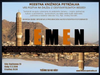 Pozývame Vás na cestovateľskú besedu -JEMEN