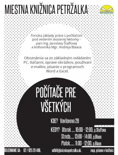 Programy a podujatia Miestnej knižnice Petržalka pre matersk…