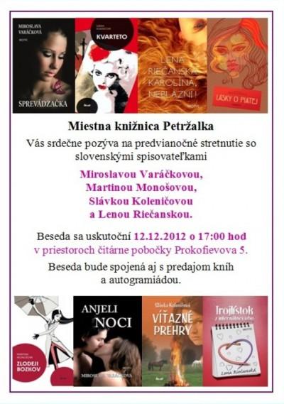Stretnutie so slovenskými spisovateľmi