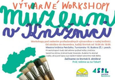 september výtvarné workshopy – Múzeum v knižnici