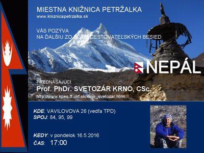 Cestovateľská beseda- Nepál s o Svetozarom Krnom