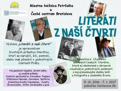 Výstava Literáti z naší čtvrti