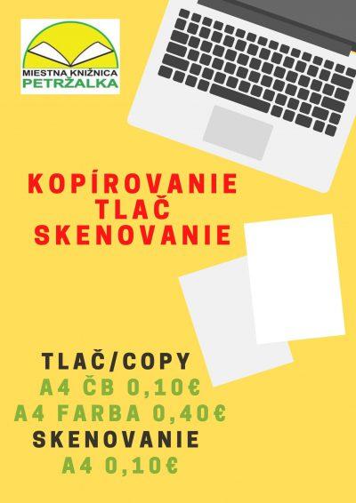Tlač, kopírovanie a skenovanie