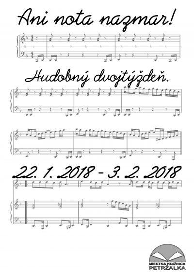 Tématický hudobný dvojtýždeň- Ani nota nazmar!