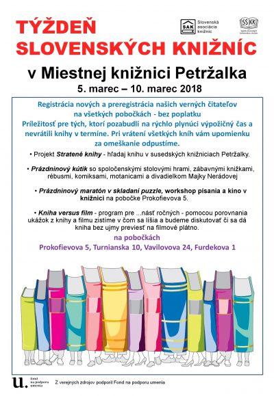 Týždeň slovenských knižníc a prázdninový program pre deti