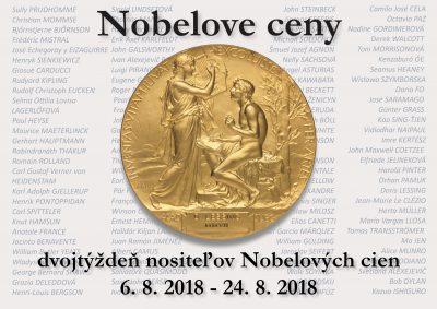 Nobelove ceny- nový tématický trojtýždeň.