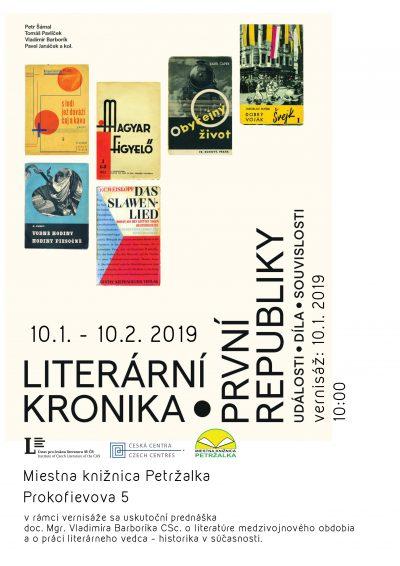 Výstava Literární kronika první republiky