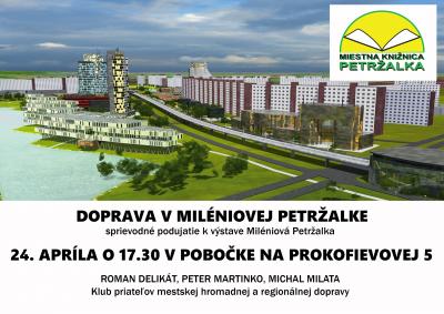 Doprava v Miléniovej Petržalke