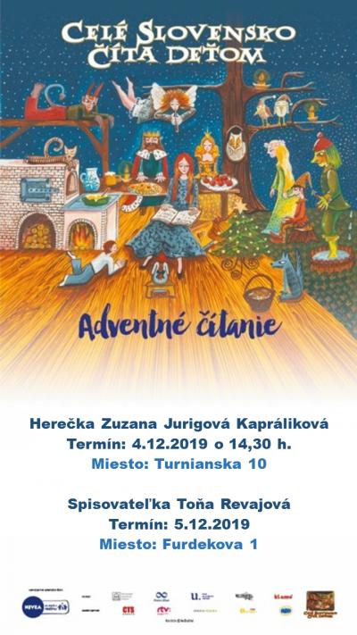 Adventné čítanie s Toňou Revajovou a Zuzkou Jurigovou-Kaprálikovou