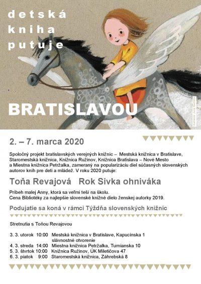 Detská kniha putuje Bratislavou s Toňou Revajovou, Barborou Kardošovou a Táňou Radeva