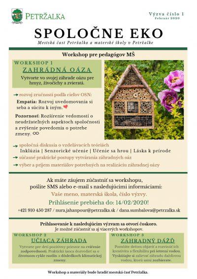 Spoločne EKO- workshop pre pedagógov materských škôl