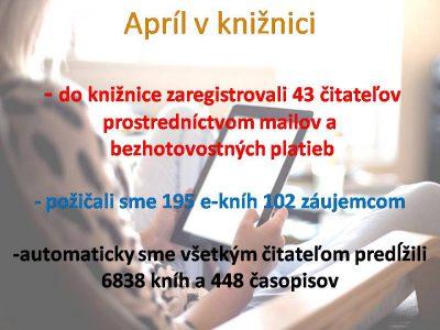 Knižnica v apríli