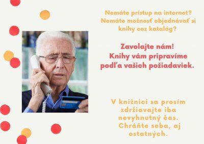 Služba – telefonické objednávky
