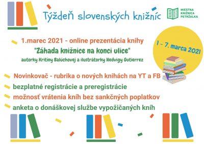Týždeň slovenských knižníc od 1. – 7. 3. 2021