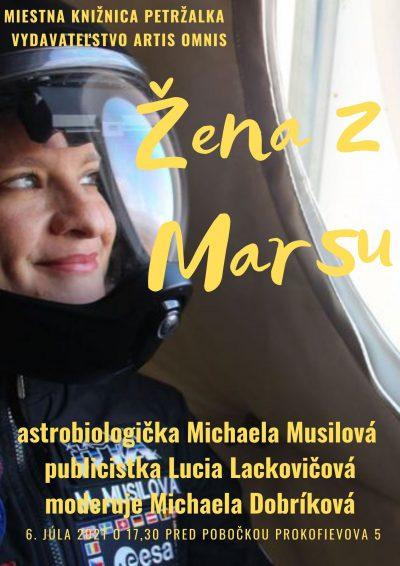 Žena z Marsu v petržalskej knižnici