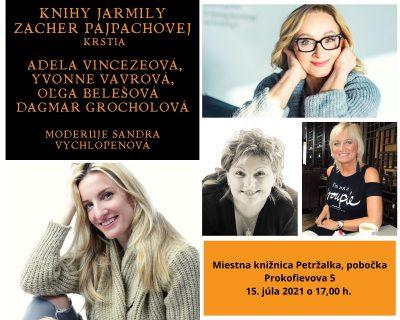 Krst kníh autorky Jarmily Zacher Pajpachovej